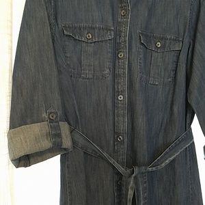 LOFT Dresses - Ann Taylor - LOFT ~ Denim Shirt Dress